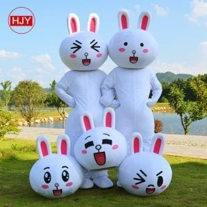 Animal mascots of the cute animal rabbit
