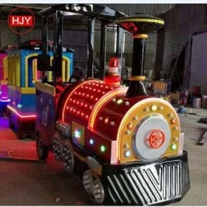 ride electric train on kids